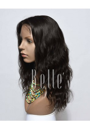 Affordable Silk Top Lace Front Wig Natural Wave Best Mongolian Virgin Hair No Shedding