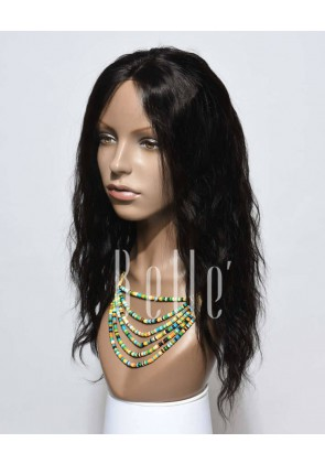 Natural Wave Affordable Silk Top Lace Front Wig Best Chinese Virgin Hair No Shedding