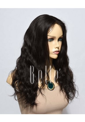 Natural Wave Affordable Lace Front Wig Best Malaysian Virgin Hair No Shedding