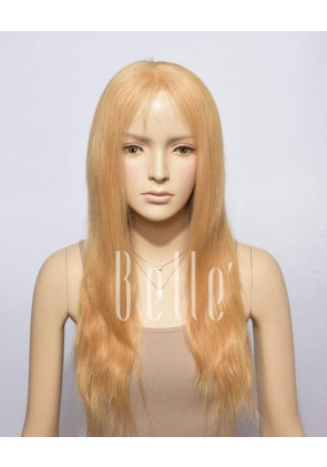 Natural Straight #27 Blonde Color 100% Premium Chinese Virgin Hair Full Lace Wig
