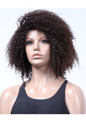 100% Top Grade Human Hair Brazilian Virgin Hair Lace Front Wig Jeri Curl