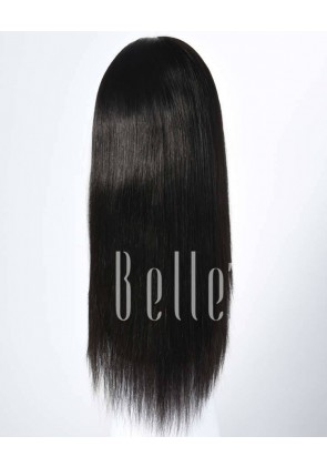 Silky Straight 100% Best Brazilian Virgin Hair Silk Base Full Lace Wig In Stock