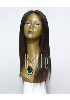 Silky Straight 100% Best Indian Virgin Hair Full Lace Wig Free-styling