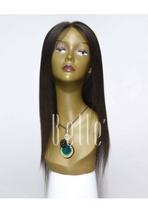Silky Straight 100% Best Peruvian Virgin Hair Lace Front Wig In Stock