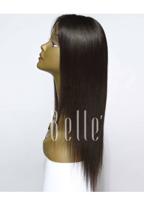 Silky Straight 100% Best Mongolian Virgin Hair Full Lace Wig Free-styling