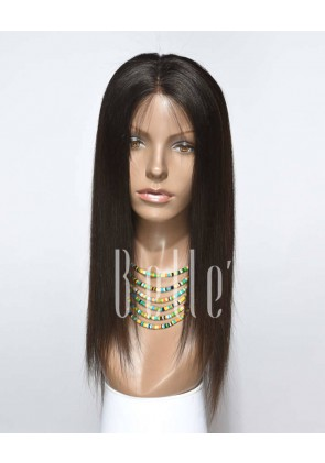 Silky Straight 100% Best Chinese Virgin Hair Full Lace Wig Free-styling