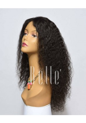 Spanish Wave Malaysian Virgin Hair Lace Front Wig Free Parting