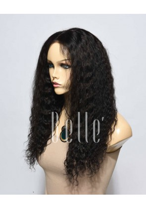 Spanish Wave Malaysian Virgin Hair Silk Top Lace Front Wig Invisible Knots