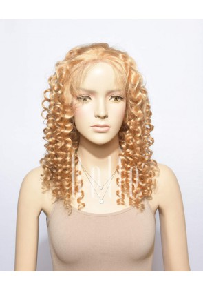 Spiral Curl #27 Blonde Color 100% Premium Chinese Virgin Hair Full Lace Wig