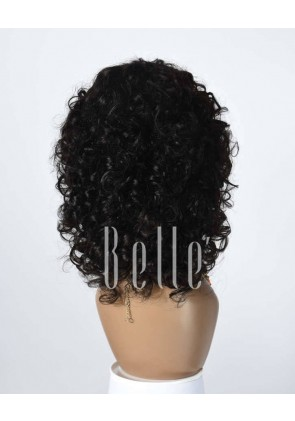 100% Premium Human Hair Indian Remy Hair Full Lace Wig Spiral Curl