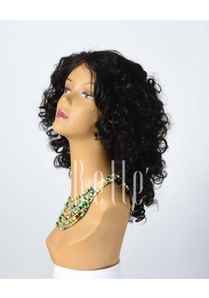 Spiral Curl 100% Premium Human Hair Chinese Virgin Hair Silk Top Lace Front Wig