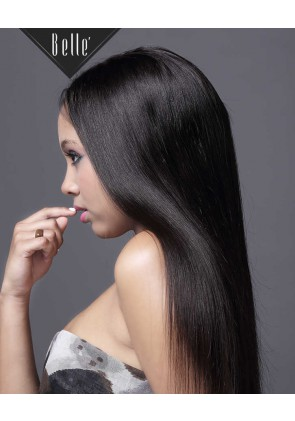 Silky Straight 100% Best Indian Virgin Hair Silk Top Full Lace Wig In Stock